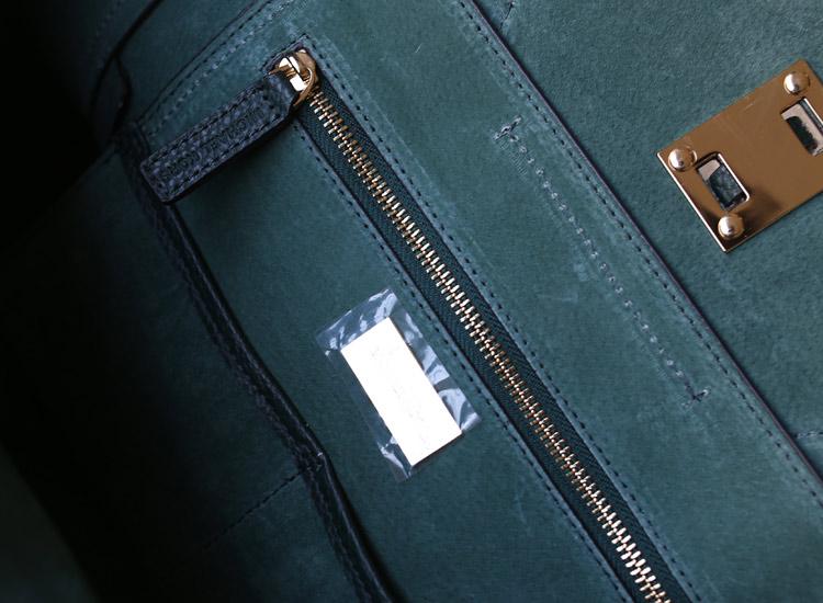 时尚欧美女包MK Michael Kors 笑脸蝙蝠包墨绿荔枝纹牛皮绳子女士手提包