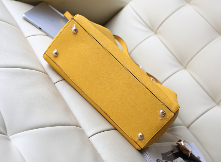 热卖淘宝女包MK Michael Kors 玳瑁包黄色原版牛皮女款手提斜挎包