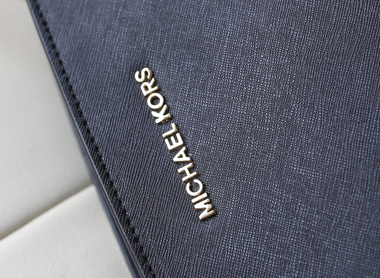 2014新款 michael kors MK牛皮包包 侧孔圈圈铆钉蝙蝠包单肩包黑色
