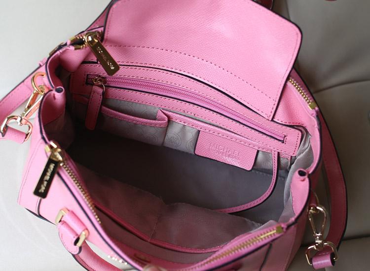 爆款 MK杀手包新颜色 粉色出货 原版十字纹牛皮