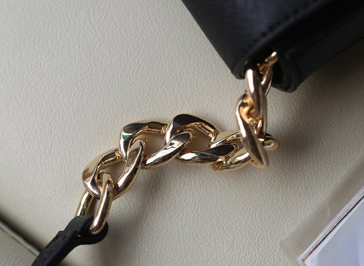 一件代发 MK女包批发 新款单肩包斜挎包 黑色 十字纹牛皮
