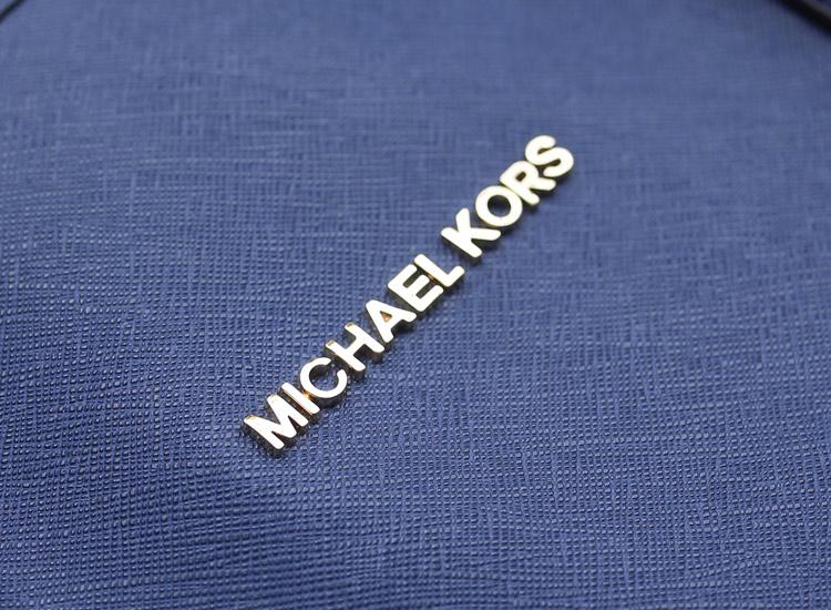 工厂直销 MK 宝蓝 原版牛皮 隔层购物袋单肩女包