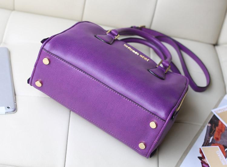 MK包包批发 MK2014新款双拉链贝壳包 进口牛皮女包手提包 紫色