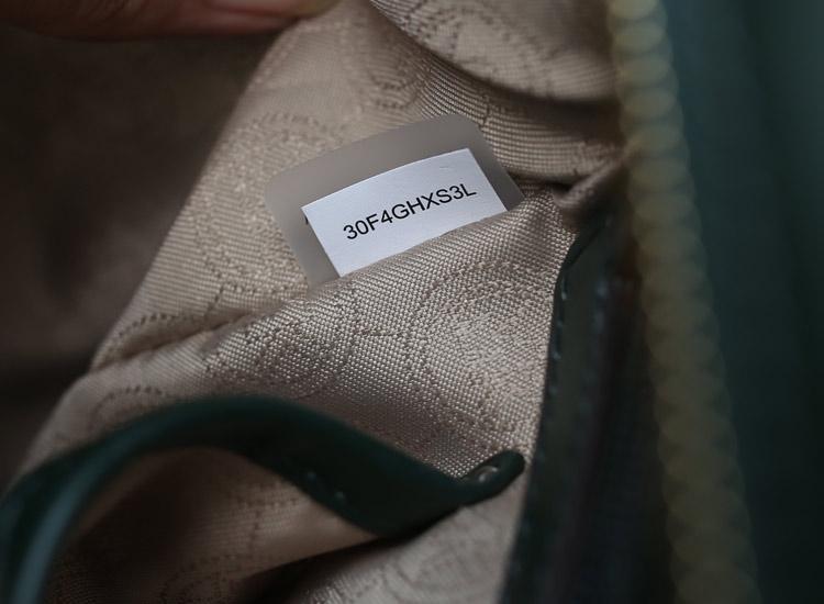 厂家直销 MK秋冬新款蝙蝠锁头包 绿色 顶级进口牛皮手提单肩女包