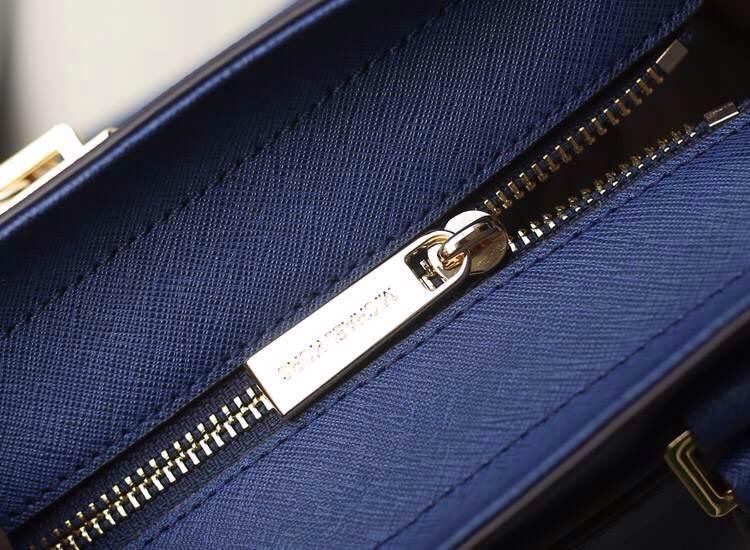Michael Kors MK原版进口牛皮 宝蓝色独家新款中号锁头包 手提单肩女包