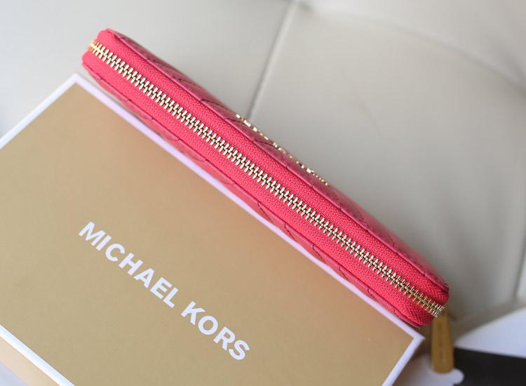 MK包包批发 MK新款钱夹 进口羊皮车V线拉链钱包 时尚女士长款手包真皮