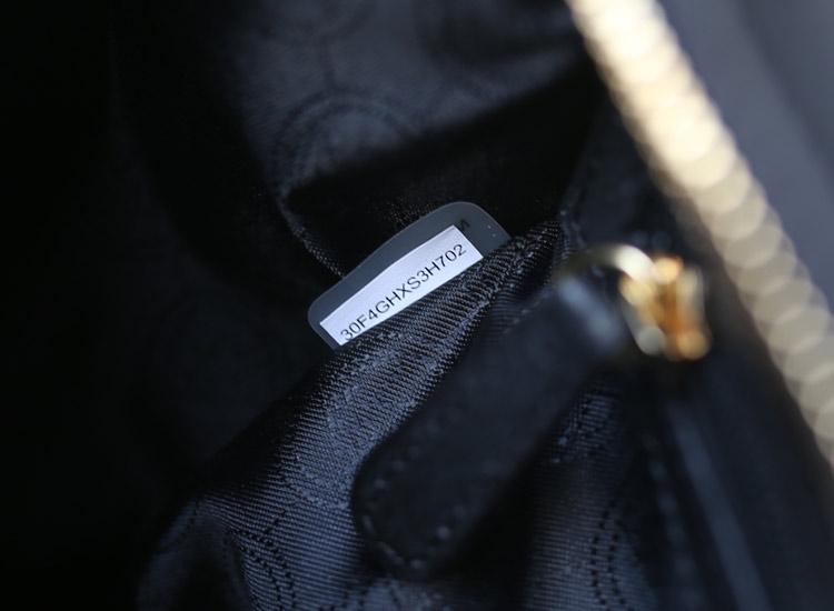 厂家直销 MK秋冬新款原版皮马毛豹纹蝙蝠锁头包笑脸中号 高档女士手提单肩包