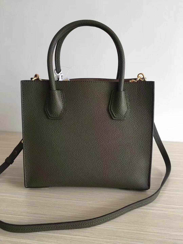 杨幂同款MK包包 原单荔枝纹牛皮MK新款女包三个尺寸 橄榄绿