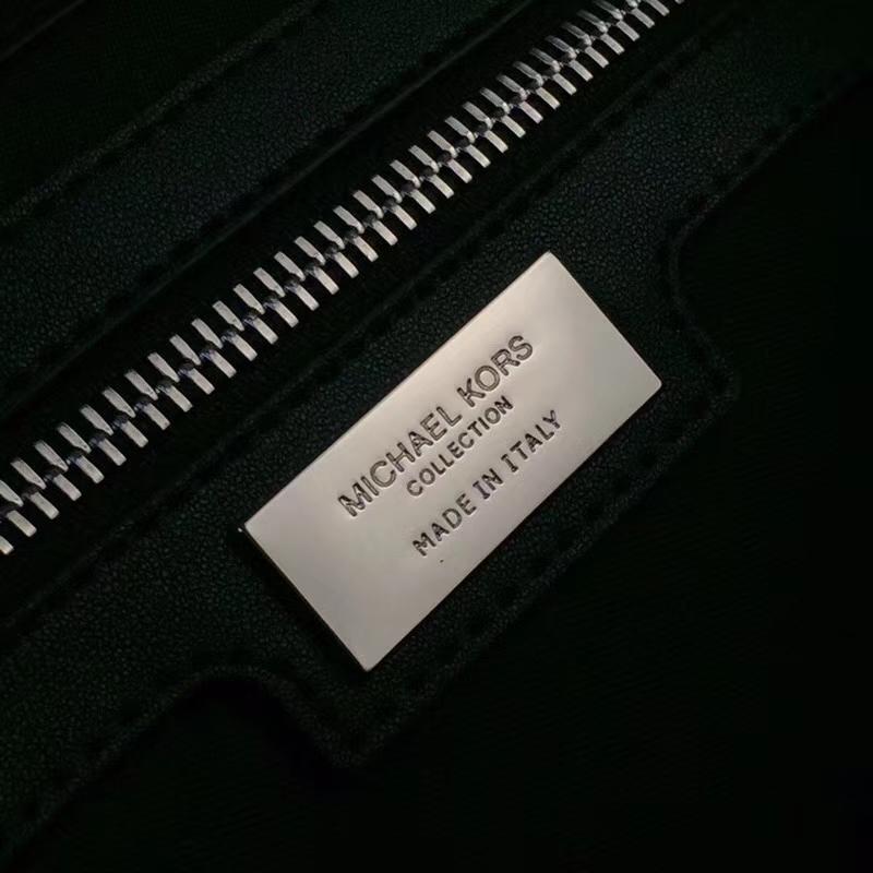 杨幂同款 MK纯原红色荔枝纹牛皮拼黑色纳帕牛皮变型秋千包手提女包26cm